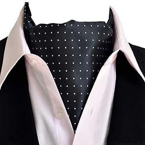 VOLORE Herren Krawattenschal Elegant Blumenkleid Ascot Seidenschal Paisley Jacquard Anzug Zubehör Langer Schal Geeignet für Business-Dating-Partys