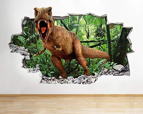Pegatinas de pared Dinosaurios Cool Smashed Wall Decal Poster 3D Art Stickers Habitación de vinilo