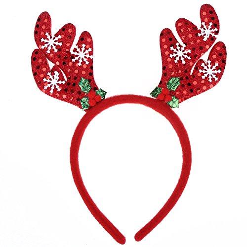 La Cabina le Serre-tête Thème Noël Bande de Cheveux Accessoire de Photographie Décoration Cheveux Joli Multi-style pour Fête de Noël (style 4)