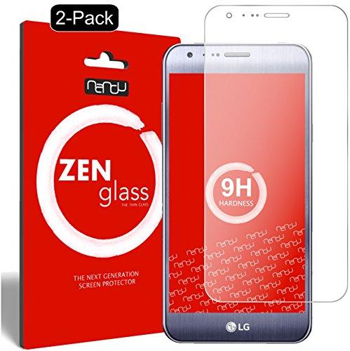 ZenGlass [2 Stück Flexible Glas-Folie kompatibel mit LG X Cam Panzerfolie I Bildschirm-Schutzfolie 9H
