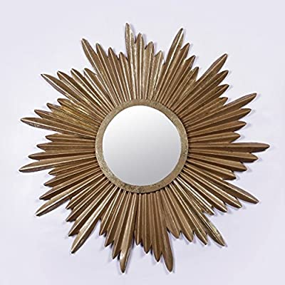 Furnish Craft Sunburst Antique Golden Wall Mirror(Size-33 x 33 inch)