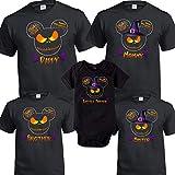 Camisa de la familia de Halloween Fiesta de Halloween de Disney Camisas de Halloween personalizadas Combinaciones personalizadas
