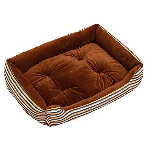 Extra Größe Luxus Hundebett Hundekissen Oxford Gewebe mit unten einen Anti-Rutschboden Kaffee 3