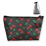 Travel Toiletry Bag Shaving Bag Sturdy Hanging Organizer with Cherrys Print Design, The and Travel Accessory