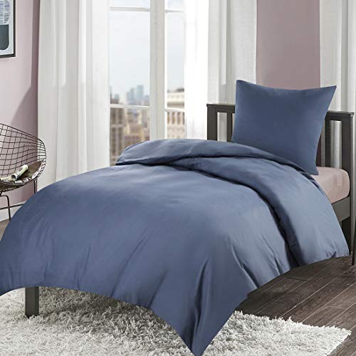 Bettwäsche 135x200cm Bettbezug Kissenbezug Mikrofaser Angenehm Weich Solid Duvet