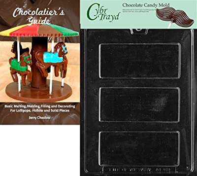 Cybrtrayd Bk-AO120 Candy Bar All Occasions Chocolate Candy Mold