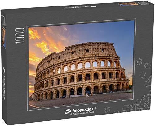 fotopuzzle.de Puzzle 1000 Teile Sonnenaufgangsansicht des Kolosseums in Rom, Italien Rom Architektur und Wahrzeichen (1000, 200 oder 2000 Teile)