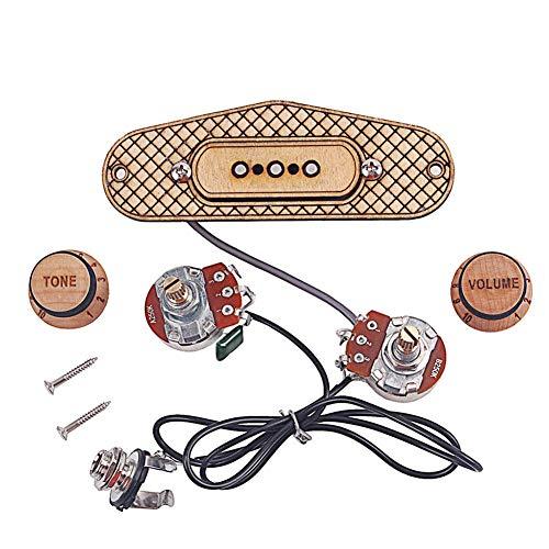 Lanbowo Zigarre Box Guitar Pickup 3 String Durable Musikinstrument Zubehör für E-Gitarre für Musikliebhaber langlebiges Material robust und verschleißfest Brown