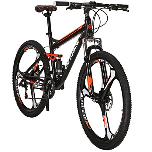 Review Eurobike Moutain Bike S7 Bicycle 21 Speed MTB 27.5 Inches Wheels Dual Suspension Bike (3-Spok...