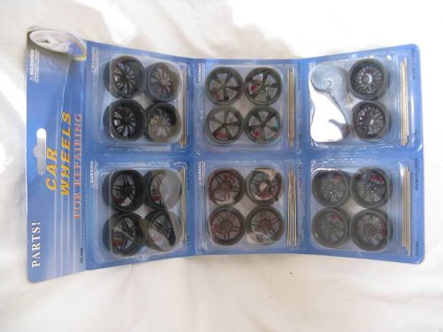 felgenset Felgen Set Reifen 1/24 Und 1/18 32 Mm Tuning 3,2 cm Schwarz Modellauto Modell Auto