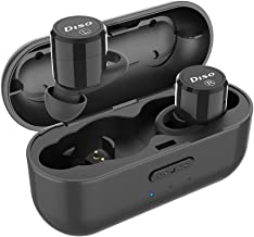 True Wireless Earbuds,DISO Buds Bluetooth 5.0 Wireless Headphones in-Ear TWS with IPX5 Waterproof Charging Case Built-in Microphone Easy-Pair Deep Bass for Running Sport