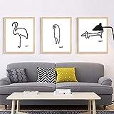 YEEXCD Wandkunst, Moderne minimalistische Picasso abstrakte