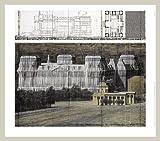 Christo Reichstag VI Poster Kunstdruck mit Alu Rahmen in