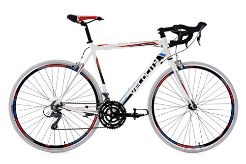 KS Cycling Hombre Rennrad Velocity RH 59cm para Bicicleta, color blanco, 28