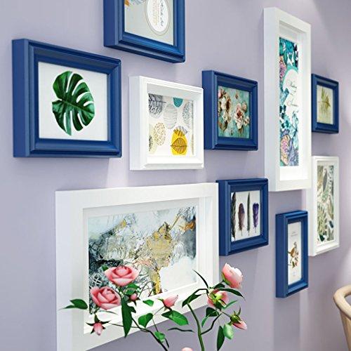Cadre décoratif Cadres photo, 10 Pcs/ensembles Collage Photo Frame Set, Cadres photo Vintage, cadre photo famille mur bricolage cadre photo ensembles pour mur (Couleur : A)