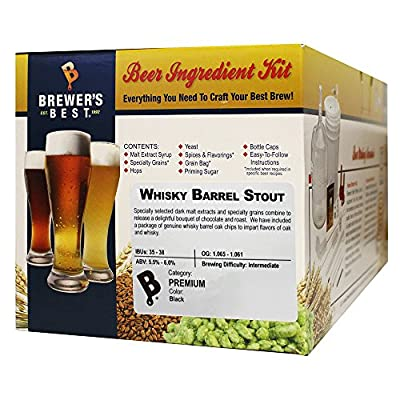 Brewer's Best - Home Brew Beer Ingredient Kit (5 gallon), (Whisky Barrel Stout)