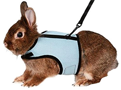 Trixie Pet Products 61513 1.20 m Rabbit Soft Harness with Leash-Nylon, 25-32cm - Colors may vary