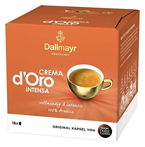 NESCAFÉ Dolce Gusto Dallmayr Crema d´Oro intensa (16 Kaffeekapseln, Intensität 9 von 12, 100% Arabica-Bohnen) 1er Pack (1 x 16 Kapseln)