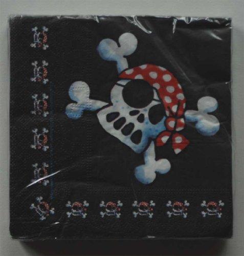 Lutz Mauder Lutz Mauder11106 Drapeau de Pirate Jolly Roger Serviettes de Table (20 pièces)