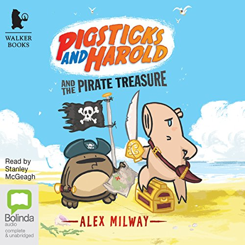 Pigsticks and Harold and the Pirate Treasure audiobook cover art