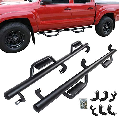 "CDG Nerf Bars Side Step 3"" Running Boards for 2005-2020 Toyota Tacoma Double Cab Pickup Side Steps Rails Bar"