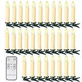 Farbe der Kerzen: Weiss und Beige, Farbe der Licht: Warmweiss Maß: D 1,6 x H 11 cm 30 Set LED Kerzen Lichtmodifikationen: flimmern und konstantes Licht. geeignet nur für den Innenbereich sowohl Batterien als auch aufladbare Akkus können verwendet wer...