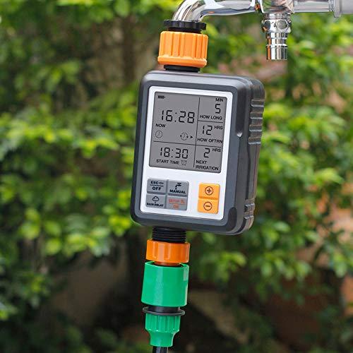 Godyluck Dispositivo di Irrigazione Multifunzione a Cronometro Multifunzione a Giardino per Esterno Intelligente Timer Automatico per Irrigazione 1 Pezzi