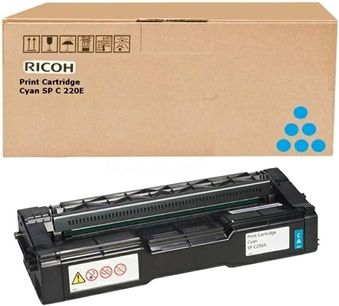 Ricoh Spc250e Toner Cyan Standardkapazità T U A Fuer Sp C250dn Sp C250sf Bürobedarf Schreibwaren