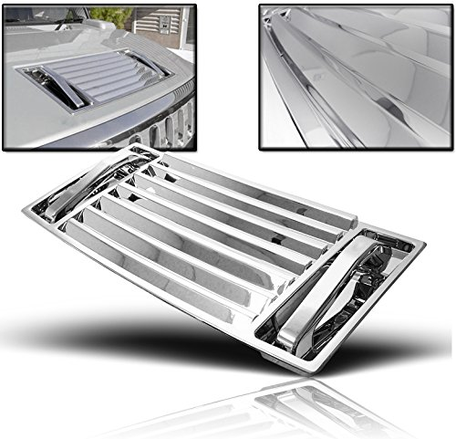 ZMAUTOPARTS Hood Deck Vent Panel Handle Covers Trim ABS Chrome 5Pcs For 2003-2009 Hummer H2