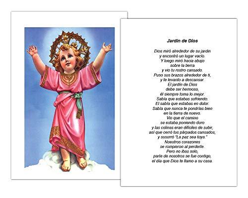 Targetas Funerales De Recordatorio (50 Cards) FPC1012ES Nino Jesus (Seleccione oracion deseada)