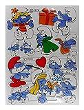 Glanzbilder EF 7076 Schlümpfe Schlumpf Geschenksc