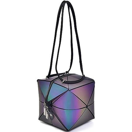 Geometrische Handtasche für Frauen Magisch veränderbarer Platz Purse große Holographische Luminous Purse Crossborpe Geschenke für Frauen einzigartig