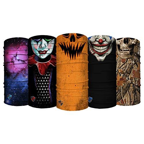 Balaclava S A Multipurpose Neck Gaiter UV Face Shield 5 Pack Elastic Face Mask for Men and Women