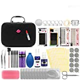 22PCS Eyelashes Extension Kit Grafting False Eyelashes Tools, Eyelashes Extension Practice Set,Tweezers Ring Cup False Eyelashes Extension Practice Exercise Set for New Beginners