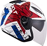 KYT YSHL0010.5 Casco Moto, Multicolore, L