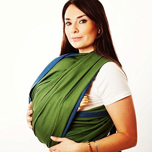 Hip Baby Wrap Porte-bébé écharpe tissée pour les nourrissons et les tout-petits (fougère)
