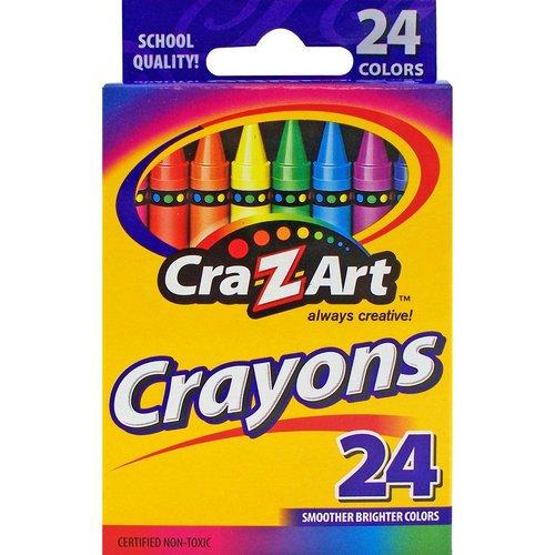 CRA-Z-ART CRAYONS 24 CT