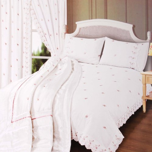 White 'Sophie' Lace Double Duvet Set White