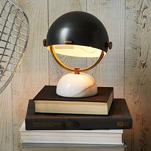 LWX Lámpara de Mesa de mármol nórdica Luz cálida Moderna Minimalista Moda Creativa Escritorio de Lectura Habitación de Lectura Hogar de Lujo Estudio 19 * 19 * 25 cm