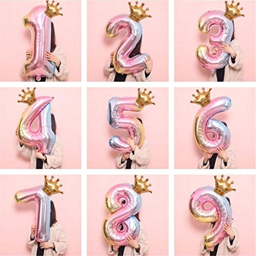 Dtuta Luftballon Geburtstagsdeko Bunt Riesen Folienballon in 32