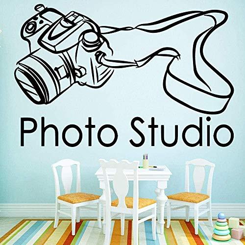 Cámara de fotografía creativa foto pegatinas de pared vinilo moderno estudio fotográfico de moda decoración del hogar amantes de la cámara 58x89 cm