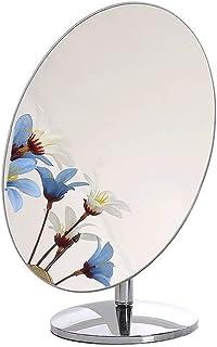 Asdfnfa Makeup Mirror Single Desktop Vanity Mirror Rotate Portable Princess High-Definition Cosmetic Mirror (Size : Diameter 15cm)