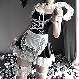 XYQQ Vestido Babydoll Caliente Uniforme Mujer lencería Sexy Cosplay Disfraz Sirviente Lolita Juego de rol erótico exótico Delantal francés Vestido de mucama