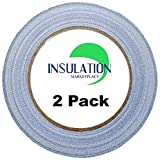 2 Pack - INSULATION MARKETPLACE - Heavy Duty Reflective Foil Tape - Multi Purposes, Perfect for HVAC, Sealing & Patching Reflective Insulation and Air Ducts- 2 inch x 30.6 Yard - Aluminum Fiberglass
