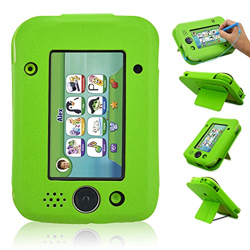 Leapad Jr Case, ACcolor lederen Tablet Case voor Leapad Jr kinderen leren Tablet (2018 release), Groen
