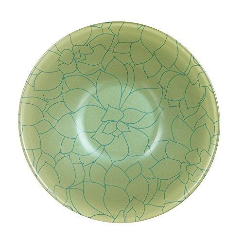 Luminarc N0488-6 cuencos multiusos (16,5 cm), diseño de flores de Bach, color verde