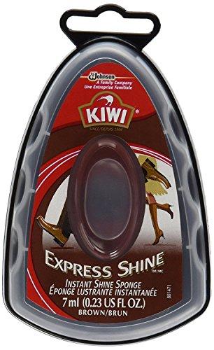 KIWI Express Shine, Instant Shine Sponge, Brown 0.23 oz