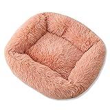 Cama Antideslizante súper Suave para Mascotas, Perrera, Perro, Gato, Cuadrado, Invierno, Saco de Dormir cálido, Almohadilla para Cachorros de Felpa