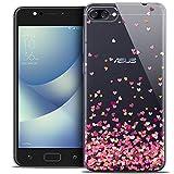 Caseink Coque pour ASUS Zenfone 4 Max ZC520KL (5.2) Housse Etui [Crystal Gel HD Collection Sweetie Design Heart Flakes - Souple -...