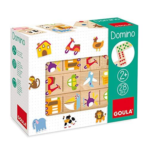 Goula- Vehículos Juego Dominó, 28 Piezas, Multicolor, 2+ (50264)